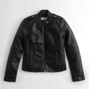 Hollister Vegan Leather Moto Jacket sz XL